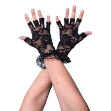 Fingerless Black Vintage Retro Steampunk Gothic Fancy Dress Lace Gloves