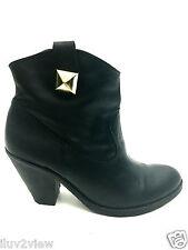 Schutz Women's Ankle Black Boots Size 7 USA EUR. 38