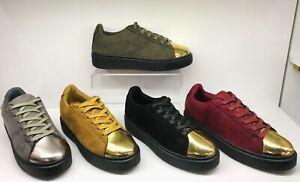 Footwear Sale Women Lace-Up Flat Comfy Walk Trainers Sports Sneaker Gift Size