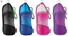 Set Of 2 Sip n' Go Reusable Foldable Water Bottle & Carring Case 17oz Black