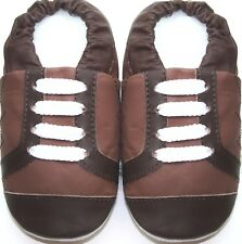 Mini ShoeZoo soft sole leather baby shoes boots brown tan 3-4y free shipping