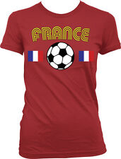 France European National Soccer Team The Tri-colors French Juniors T-shirt
