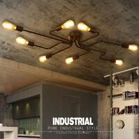 Vintage Industrial Ceiling Chandelier Light Steampunk Pendant Lamp Mount