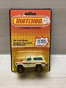 1983 Matchbox MB50 CHEVY BLAZER MADE IN MACAU Sheriff ON CARD