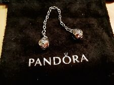 Pandora Genuine Hearts Silver Safety Chain 【AU Stock】Item 791088
