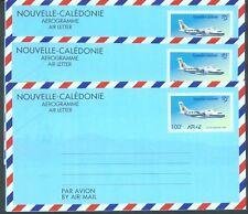 New Caledonia 1996 100f airletters x 3 unused