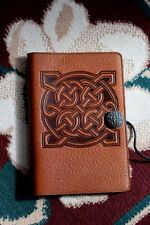 "Oberon Design Book Journal Cover 6"" x 9"" Celtic Knot in Saddle-Pebbled Leather"