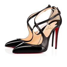 CHRISTIAN LOUBOUTIN Crissos Leather D'Orsay Pumps Size 37,5