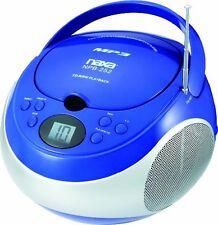 Naxa Portable Mp3/cd Player With Am/fm Stereo Radio - 1 X Disc - 2.4 (npb252bl)