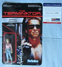 LINDA HAMILTON SIGNED TERMINATOR SARAH CONNOR REACTION FIGURE PSA PSA/DNA
