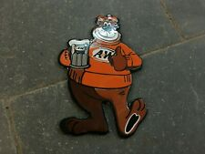 """Porcelain AW Beer Enamel Sign Size 8/"""" x 5/"""" Inches"""