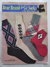 Vintage Hand Knit Socks Pattern Book - Designs For all argyle classic anklets