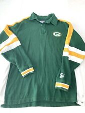 Vintage Green Bay Packers NFL Starter Pro Line Rugby Polo Shirt - Men's M L/S