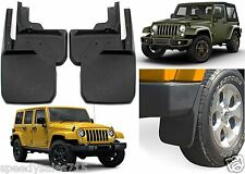 Custom Fit Front & Rear Deluxe Molded Mud Flaps For 2007-2017 Jeep Wrangler New
