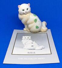 The Franklin Mint Curio Cabinet Cats: BELLEEK Cat w/ Book