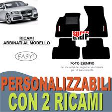 PER AUDI A4 (B8) TAPPETI AUTO SU MISURA MOQUETTE E FONDO GOMMA + 2 RICAMI EASY