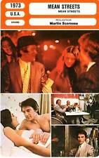 FICHE CINEMA : MEAN STREETS - De Niro,Keitel,Proval,Scorsese 1973