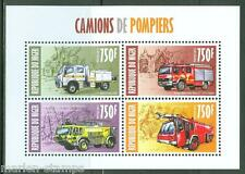 NIGER  2013 FIRE ENGINES SHEET OF FOUR MINT NH