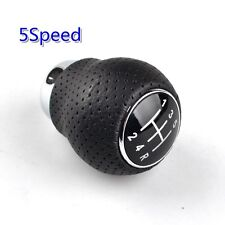 Universal 5-Speed Vehicle Shift Gear Knob Manual Black Leather Shifter Lever