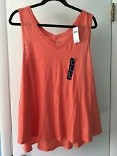 GAP Bright Orange Casual Loose Fitting Tank Top Shirt Women's Size XL New w Tags