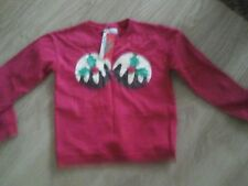BNWT SIZE 8 RED CHRISTMAS PUDDING SWEATSHIRT WITH POM POMS