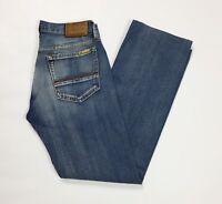 Meltin pot maxwell jeans uomo usato W30 tg 44 destroyed straight slim blu T3045