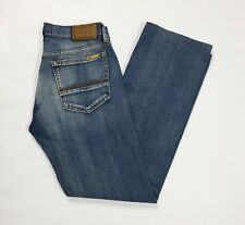Meltin pot maxwell jeans uomo usato W30 tg 44 destroyed straight slim blu T3045