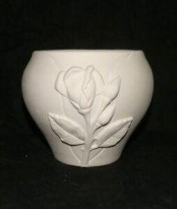 Ceramic Bisque Small IRIS VASE Planter Flower Pot * Ready to Paint