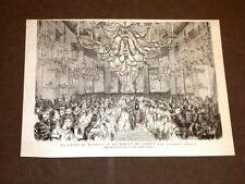 L'Imperatore Francesco Giuseppe a Venezia 1875 Ballo di corte nel Palazzo Reale