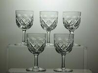 STUNNING CUT GLASS CRYSTAL SHERRY PORT GLASSES SET OF 5