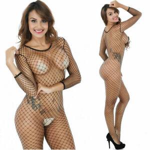 Women Sexy/Sissy Fishnet Net Lingerie Babydoll Bodystocking Nightwear Underwear