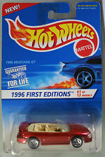 Hot Wheels 1:64 Scale 1996 First Editions Series 1996 MUSTANG GT (5 SPOKES)