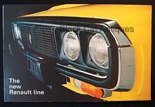 Original Vintage Renault Line-Up Canadian Car Dealer Color Fold-Out Brochure