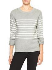 Gap Women`s Sweater XXL  2XL Striped Long Sleeve  Gray Warm Top  Msrp$45 NWT