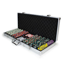 New 500 Poker Knights 13.5g Clay Poker Chips Set with Aluminum Case - Pick Chips