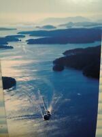 NEW POST CARD AERIAL VIEW THE PUGET SOUND FERRY THE SAN JUANS ISLANDS WASHINGTON