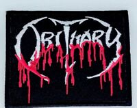 Obituary Blood Drip Logo Death Embroidered Iron On Patch