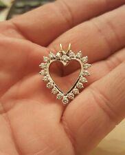 1.20 TCW G/VS2 DIAMOND HEART PENDANT 14K Y&W GOLD RETAIL $1900 NO RESERVED