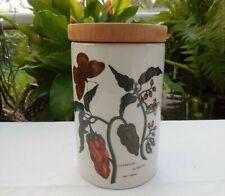 Vintage Portmeirion Botanic Garden Red Peppers 17.5cm Storage Jar