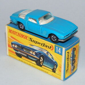MATCHBOX SUPERFAST #14a ISO GRIFO NARROW WHEELS EXCELLENT BOXED