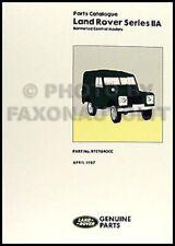 Land Rover Series IIA Parts Book 1967 1968 1969 1970 Catalog Catalogue