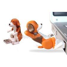 Divertido Lindo Juguete Perro Mascota USB de lomo de asno Spot Perro Gris Regalo de Navidad para Laptop PC