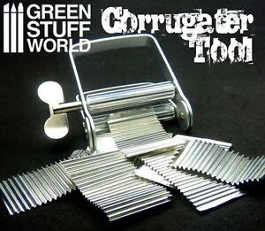 CORRUGATOR tool to corrugate metal sheets for dioramas - corrugated corrugater