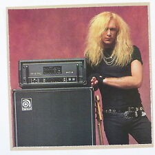 Pop-carte feat. billy Sheehan/ampeg publicité lumineuse, 15x15cm carte de vœux aav