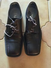 Aquila Men Shoes Size 40, Chocolate Brown Leather