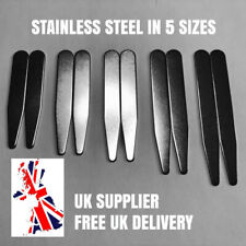 Metal Shirt Collar Stiffeners Stainless Steel Magnet Friendly Choice of 5 Sizes