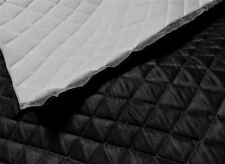 "Black Suede Quilted Auto Headliner Headboard Fabric with 3/8"" Foam Back fabric"