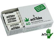 Actitube Filter Aktivkohle Zigarettenfilter weiss 40 Stück 35mm 8mm
