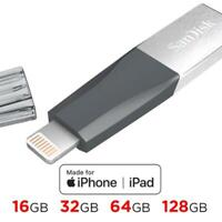 SanDisk USB 3.0 iXpand Mini Flash Drive Stick For iPhone & iPAD Backup lighting