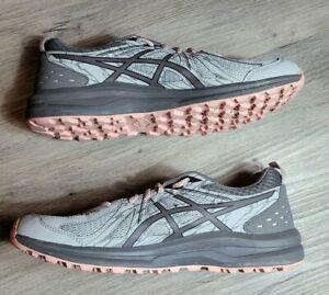 Asics Women's Size 11 Wide Running Frequent Trail  Grey And Pink 1012A126